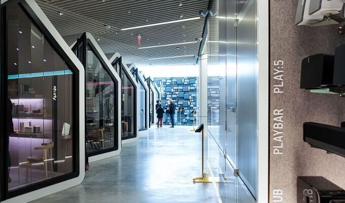 Интерьер магазина Sonos в NYC