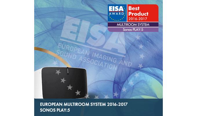Sonos PLAY:5 Gen2 - EISA Best Product 2016-2017 – European Multiroom System 2016-2017